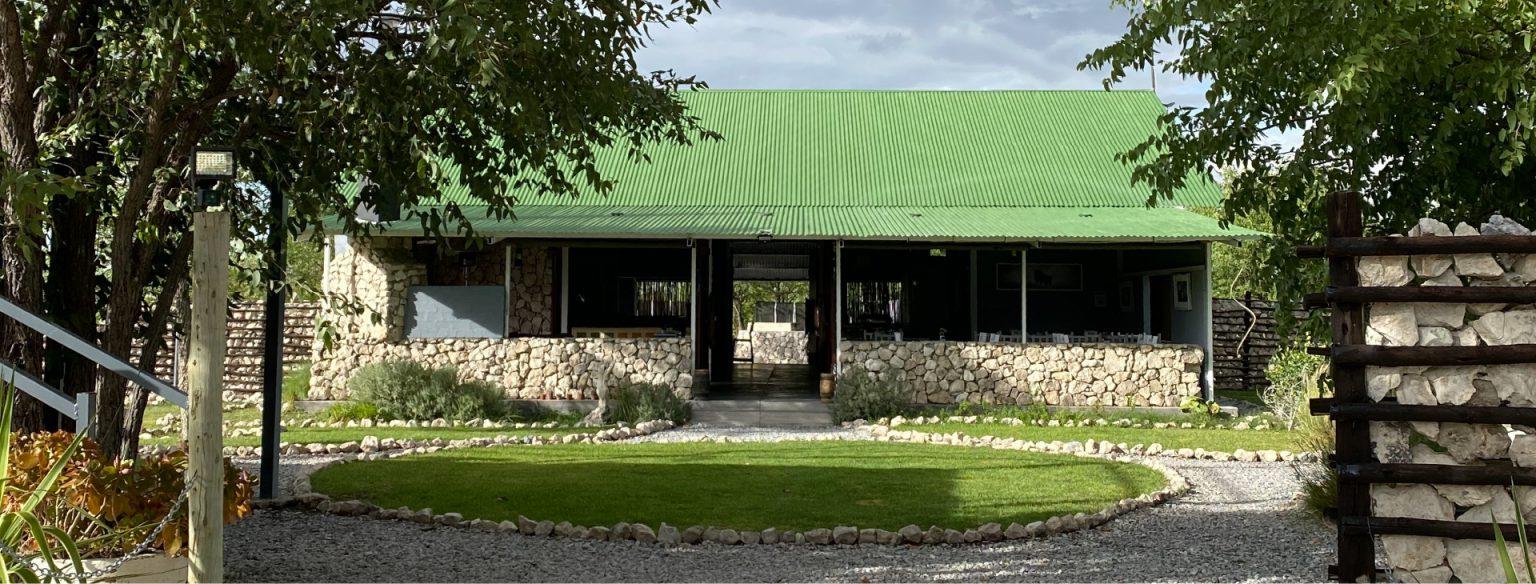main area at maopane village, etosha national park