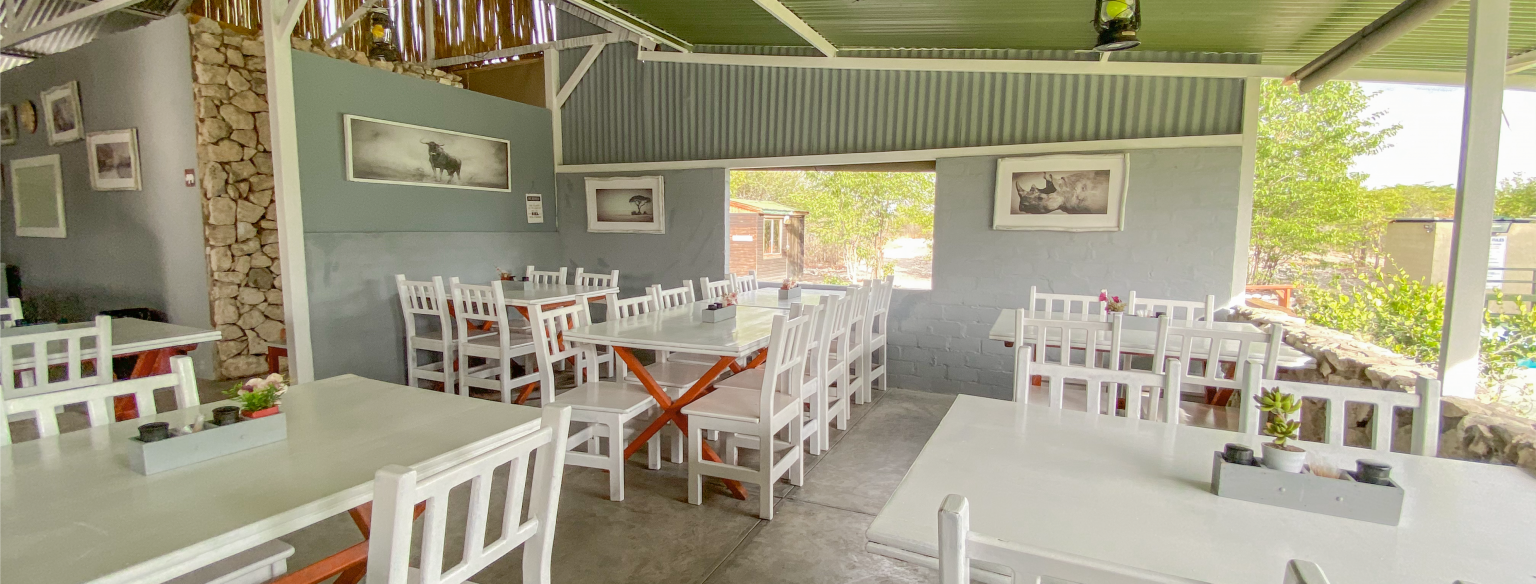 Restaurant at Mopane Village lodge Etosha National Park