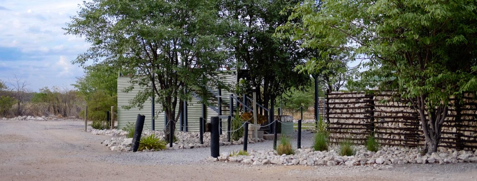 Entrance at Mopane Village lodge Etosha National Park